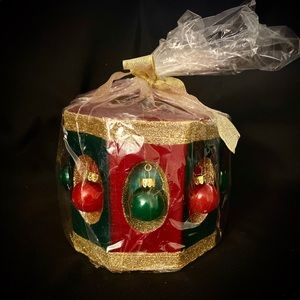 Large Decorative Drum Christmas Candle